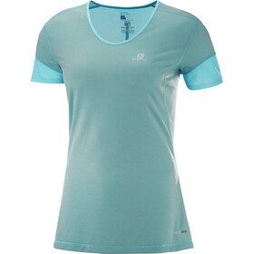 Salomon Trail Runner SS Tee Dam blue curacao/charcoal